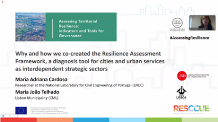 "Projeto RESCCUE - Conferência Internacional ""Assessing Territorial Resilience: Indicators and Tools for Governance"""