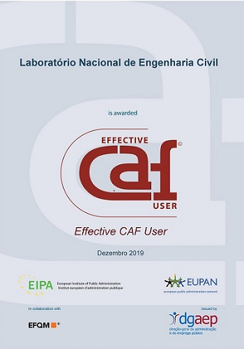 "Reconhecimento do LNEC como ""Effective CAF user"""